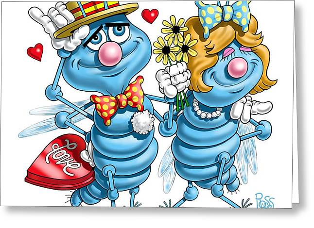 Love Bugs Greeting Card by Scott Ross