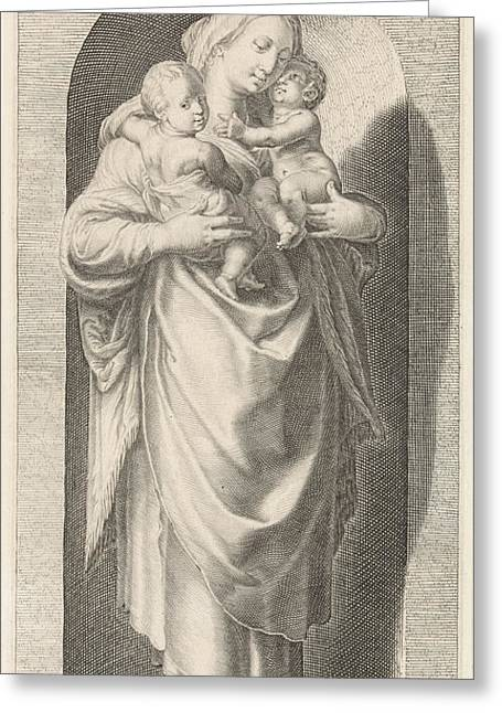 Love Caritas, Jacob Matham, Franco Estius Greeting Card