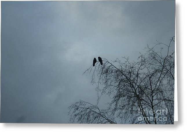 Love Crows Greeting Card