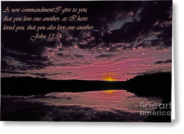 Love Greeting Card by Donna Brown