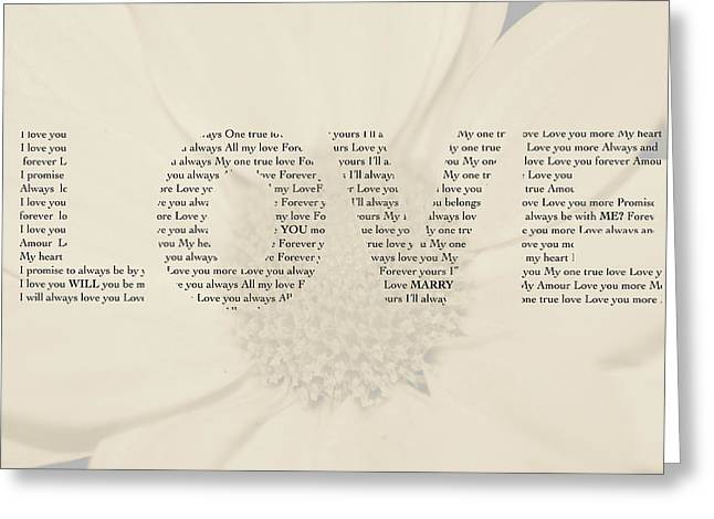Will You Marry Me? Hidden Message 4 Greeting Card by Christine Aylen