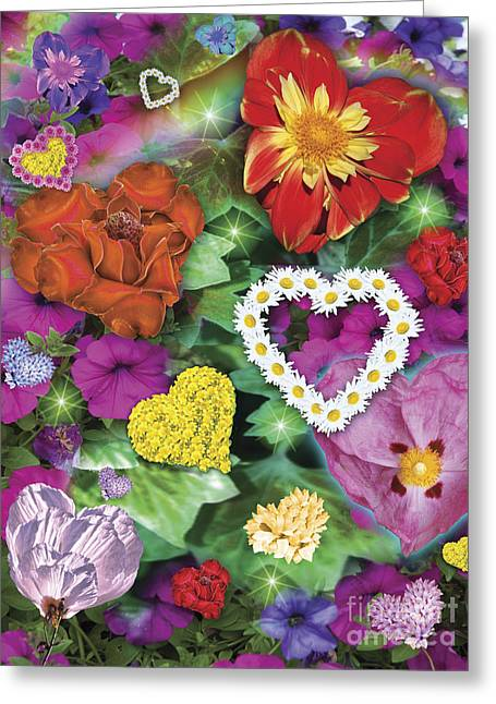 Love Flowers Garden Greeting Card by Alixandra Mullins