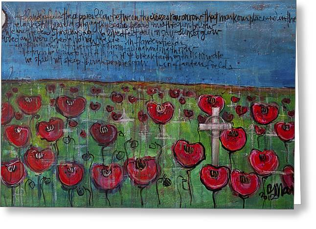 Love For Flanders Fields Poppies Greeting Card by Laurie Maves ART