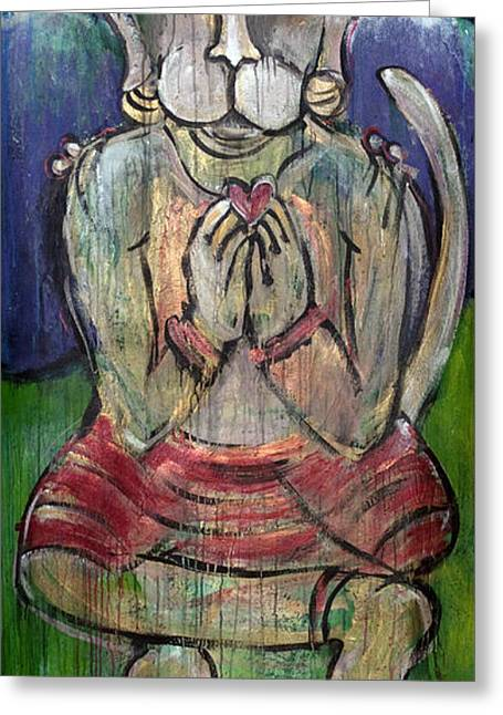 Love For Hanuman Greeting Card