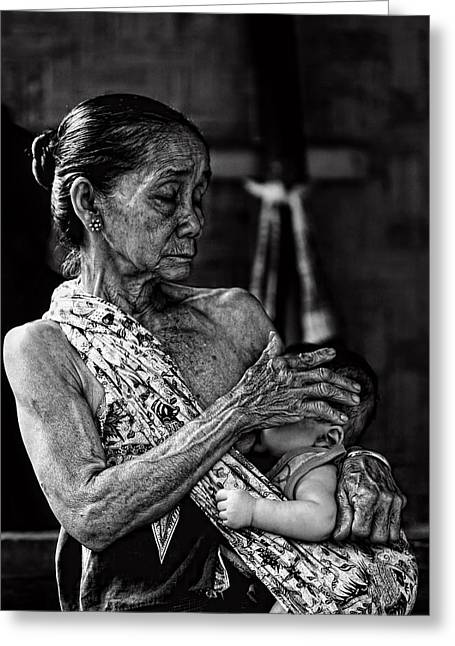 Love For My Grandson Greeting Card by Ari Widodo
