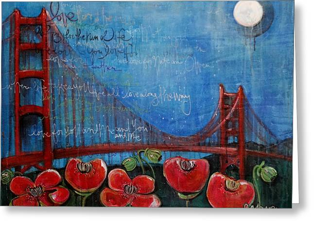 Love For San Francisco Greeting Card