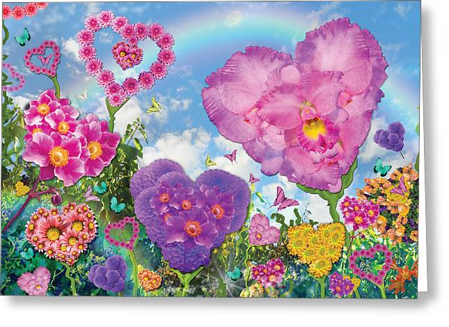 Love Garden Greeting Card by Alixandra Mullins