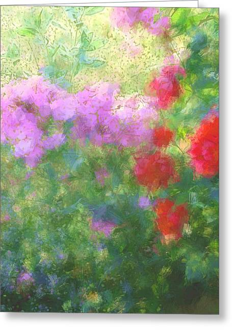Love Garden Greeting Card by The Art Of Marilyn Ridoutt-Greene