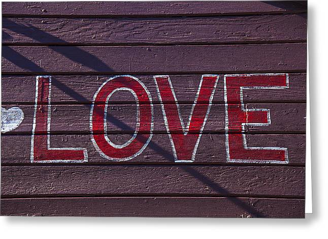 Love Greeting Card by Garry Gay