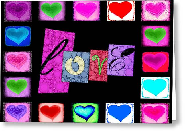 Love Hearts Greeting Card by Cindy Edwards