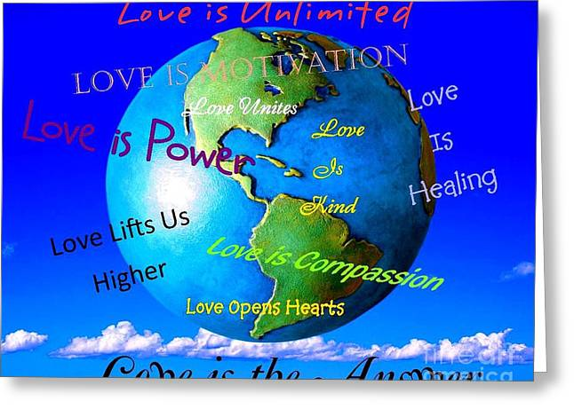 Greeting Card featuring the digital art Love Is. . . . by Bobbee Rickard