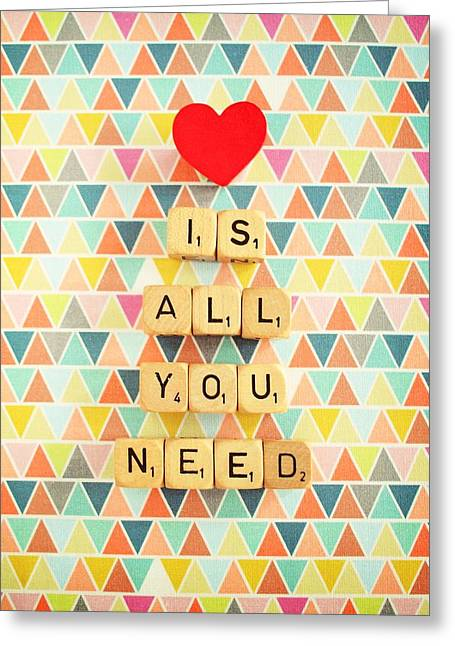 Love Is All You Need Greeting Card by Mable Tan