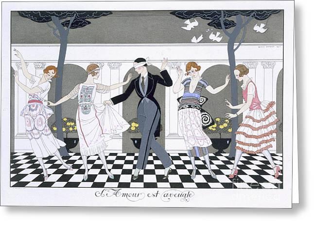 Love Is Blind Greeting Card by Georges Barbier