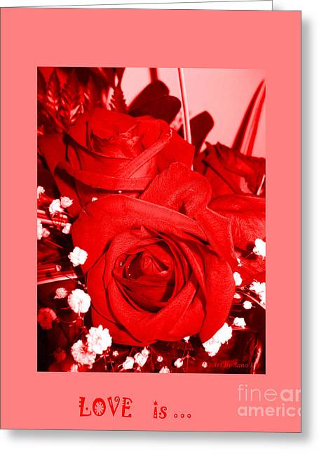 Love Is... Collection 1. Red Greeting Card by Oksana Semenchenko