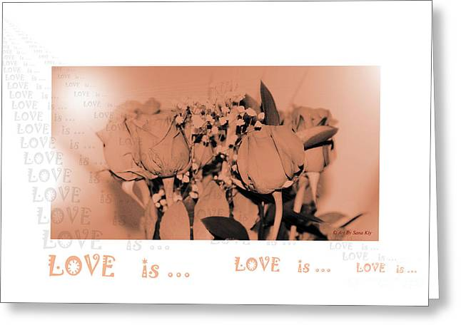 Endless Love. Love Is... Collection 13. Romantic Greeting Card