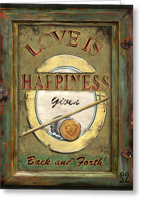 Love Is Happiness Greeting Card