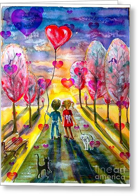 Love Is In The Air 2 Greeting Card