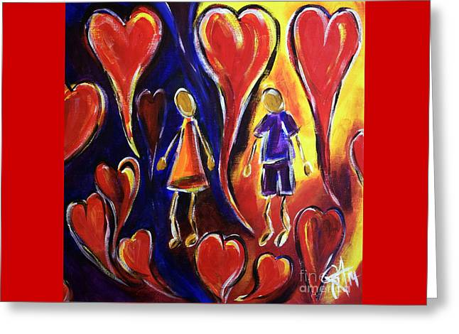 Love Is In The Air Greeting Card by Jackie Carpenter