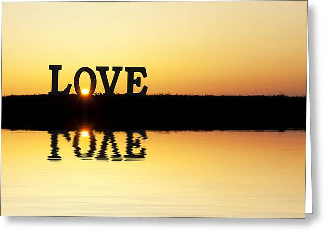 Love Is Its Own Reflection Greeting Card by Tim Gainey