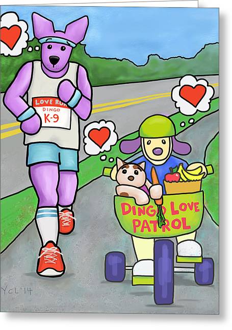 Love Is Making Healthy Choices Greeting Card by Yvonne Lozano