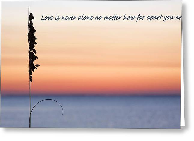 Love Is Never Alone Greeting Card by JC Findley
