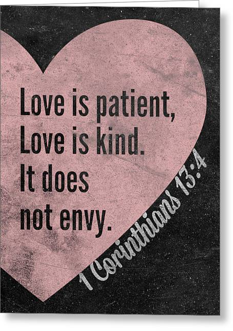 Love Is Patient Greeting Card by South Social Studio