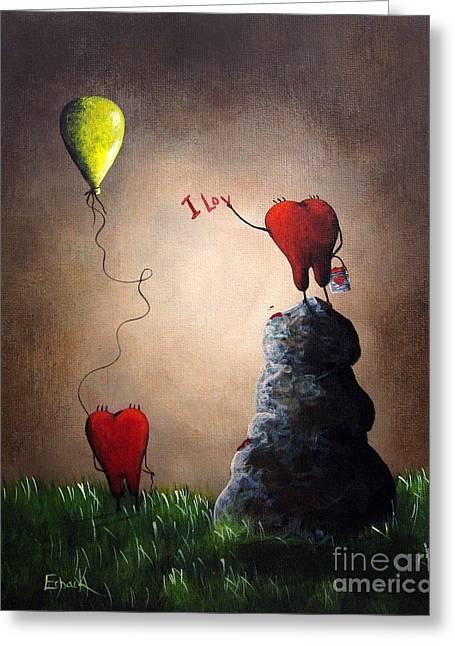 Love Is Playful By Shawna Erback Greeting Card by Shawna Erback