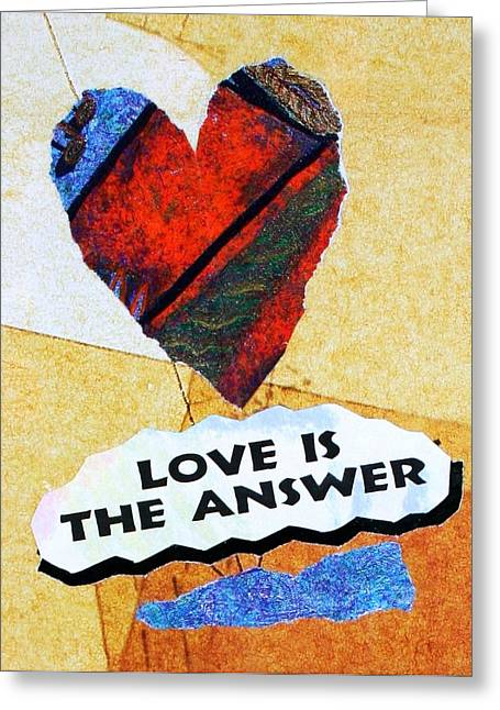 Love Is The Answer Collage Greeting Card