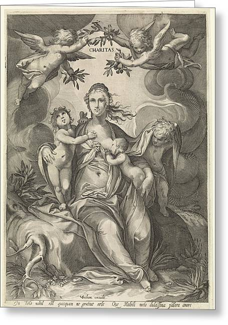 Love, Jan Saenredam, Anonymous, Hendrick Goltzius Greeting Card