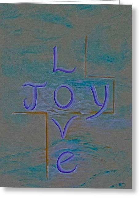 Love Joy Greeting Card by Mary Grabill