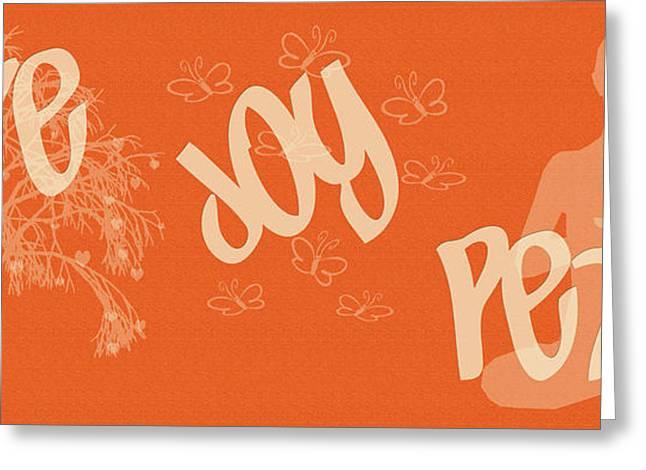 Love Joy Peace Greeting Card
