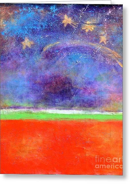 Love Land And Sky Greeting Card by Johane Amirault