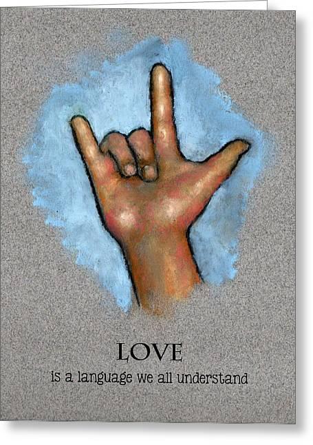 Love Language Sign Language Greeting Card by Joyce Geleynse