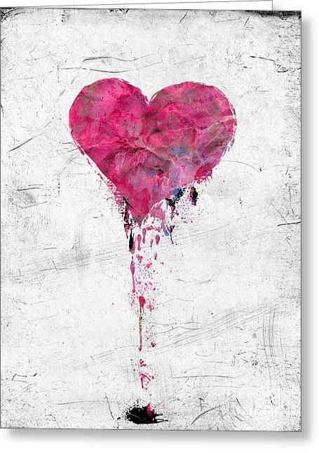 Love Lies Bleeding Greeting Card by Gillian Singleton