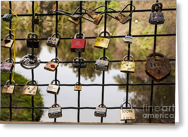 Love Locks Greeting Card by Juan Romagosa