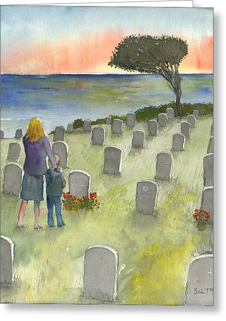 Love Lost By A Setting Sun Greeting Card
