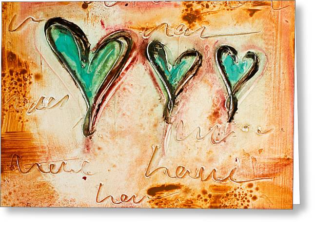 Love Love Love Greeting Card by Ivan Guaderrama