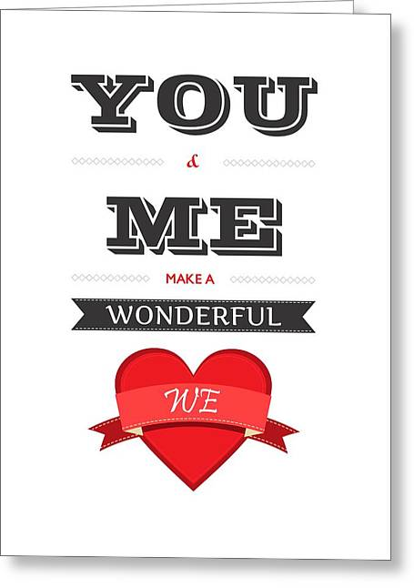 Love Lyrics Quotes Typography Quotes Poster Greeting Card by Lab No 4 - The Quotography Department