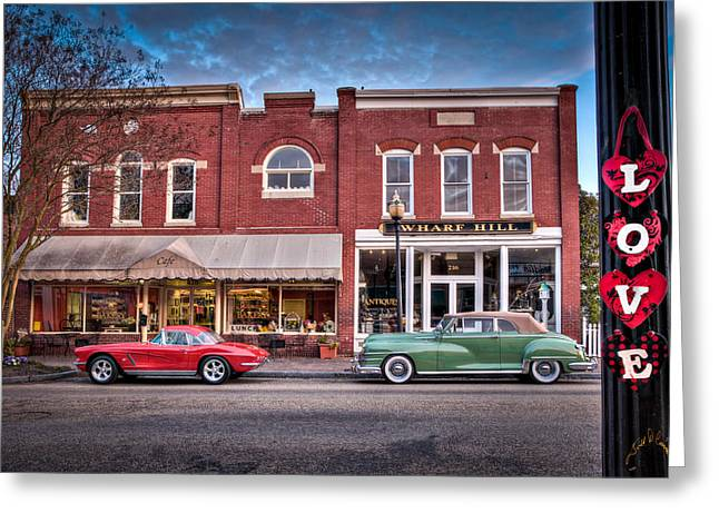 Love Main Street On Saturday Morning Greeting Card by Williams-Cairns Photography LLC