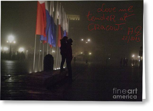 Love Me Tender - Power Of Love At Cracow . Greeting Card by  Andrzej Goszcz