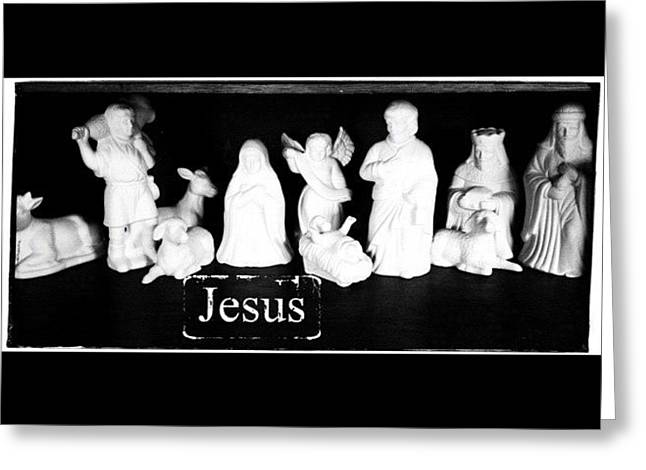 Love My Nativity Set. My Mom Gave To Me Greeting Card