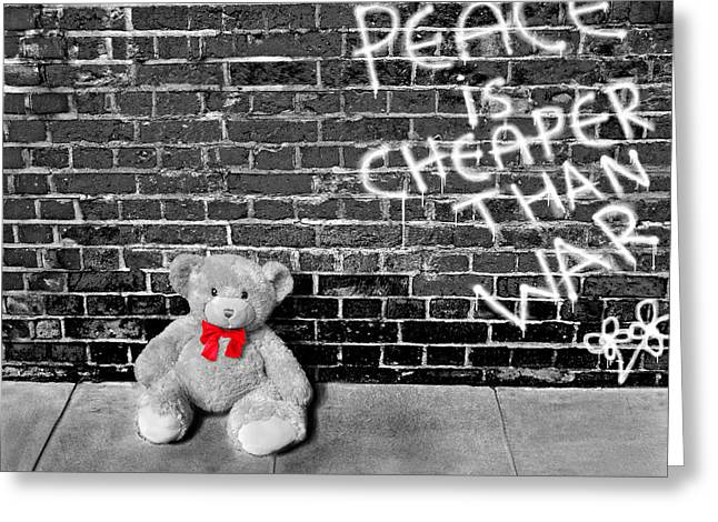 Love Not War Greeting Card