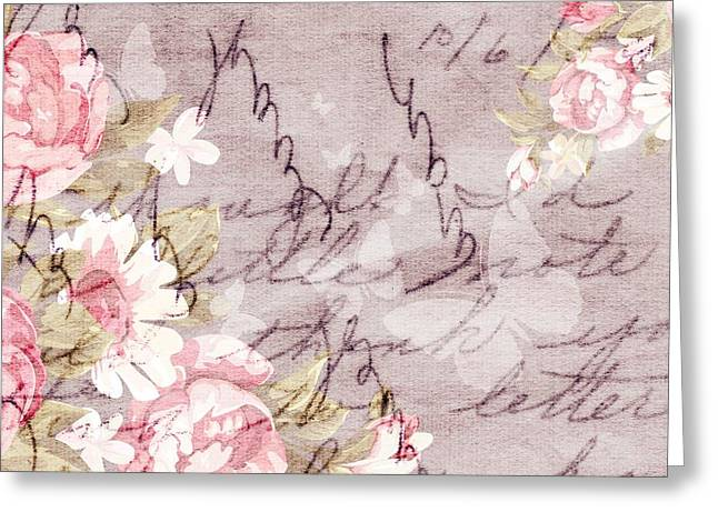 Love Notes And Butterflies Greeting Card by Chastity Hoff