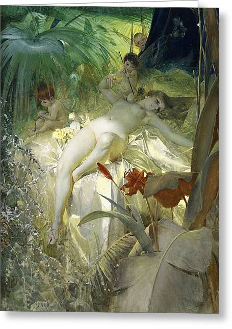 Love Nymph Greeting Card by Anders Zorn