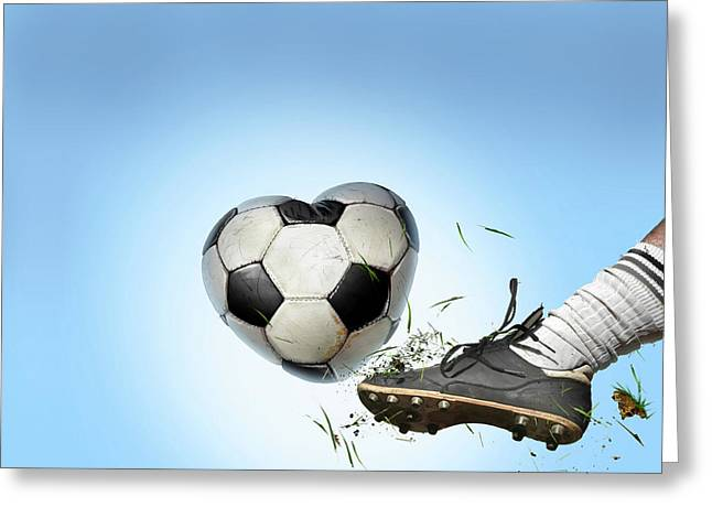 Love Of Football Greeting Card by Smetek