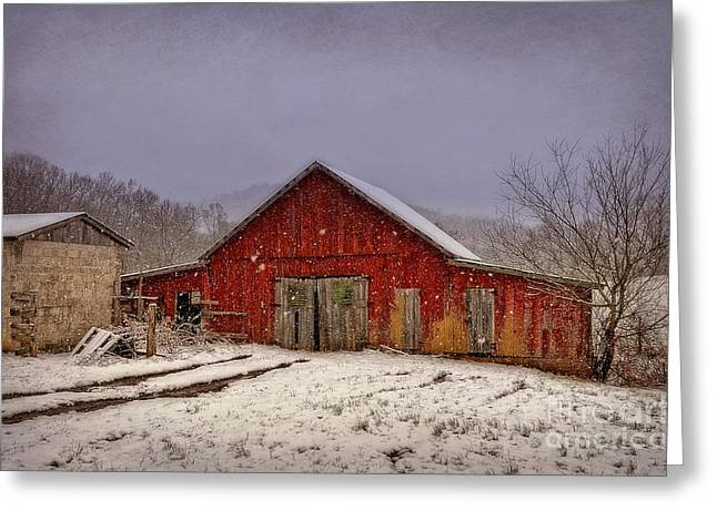 Greeting Card featuring the photograph Love Old Barns by Brenda Bostic