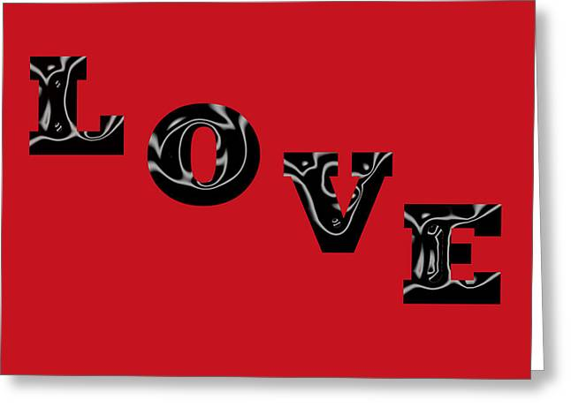 Love On Red Greeting Card by Aimee L Maher Photography and Art Visit ALMGallerydotcom