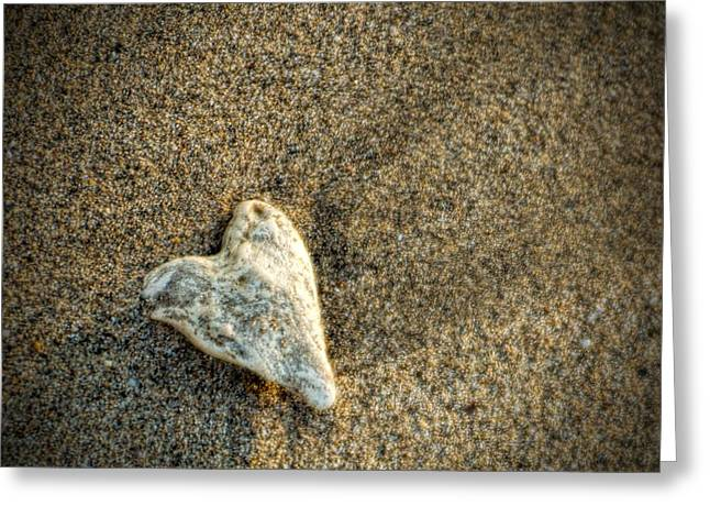 Love On The Beach Greeting Card by Peggy Hughes