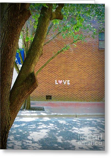 Love On The Wall Greeting Card by Lorraine Heath