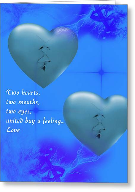 Greeting Card featuring the digital art Love On Valentine's Day by Angel Jesus De la Fuente